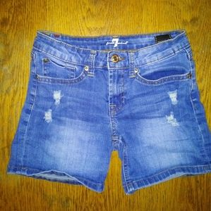 7 For All Mankind Girl's Jean Shorts